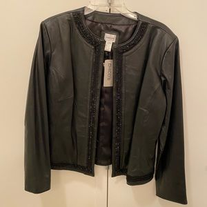 Chico's leather sequin jacket